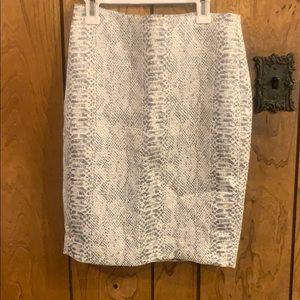 NWT Ann Taylor Python/snake print pencil Skirt